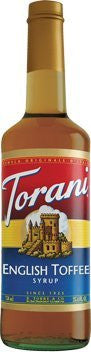 Torani English Toffee Syrup 750 mL (pack of three)