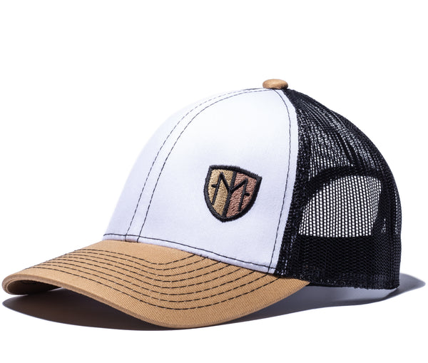 Flying M Brown and Gold Meshback Hat