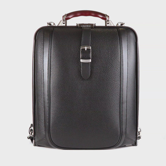 Artphere Dulles Black Men's Leather Backpack