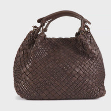 Load and play video in Gallery viewer, Plinio Visona 'Dream' Woven Calf Leather Ladies Handbag