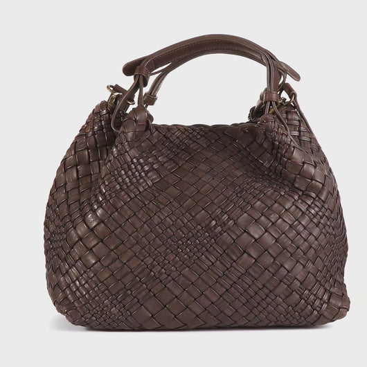 Plinio Visona 'Dream' Woven Calf Leather Ladies Handbag
