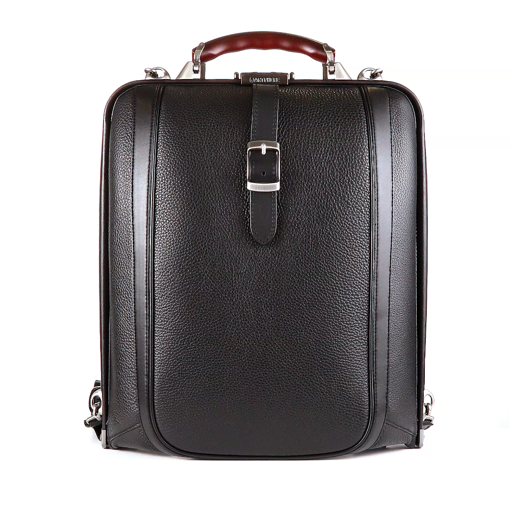 Artphere Dulles Backpack Men's Black Leather