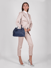 Load image into Gallery viewer, Plinio Visona 'Dream' Woven Calf Leather Ladies Handbag