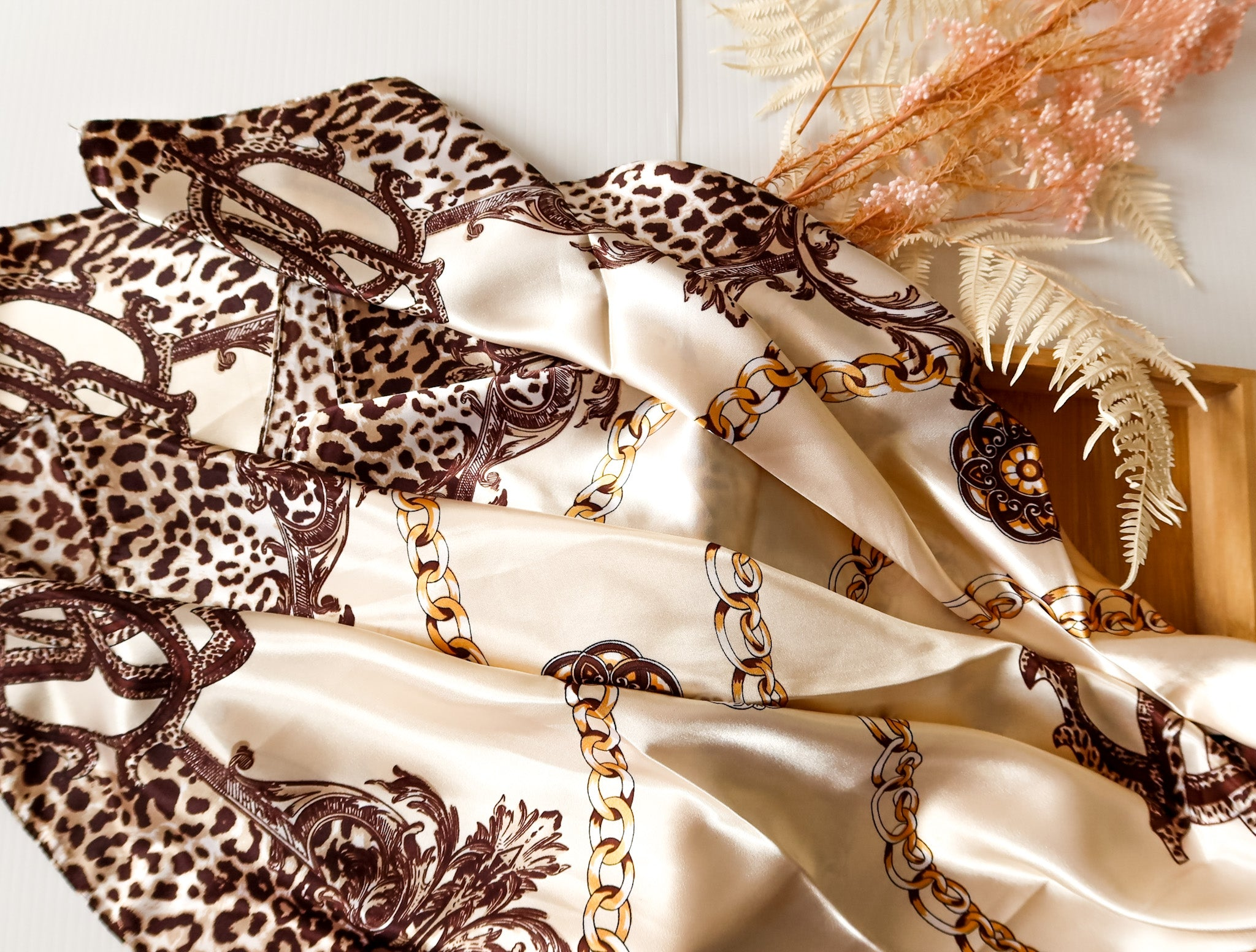 Addis Ababa Silk Satin Scarf