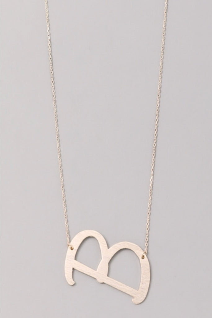 """B"" Love Gold Initial Necklace"