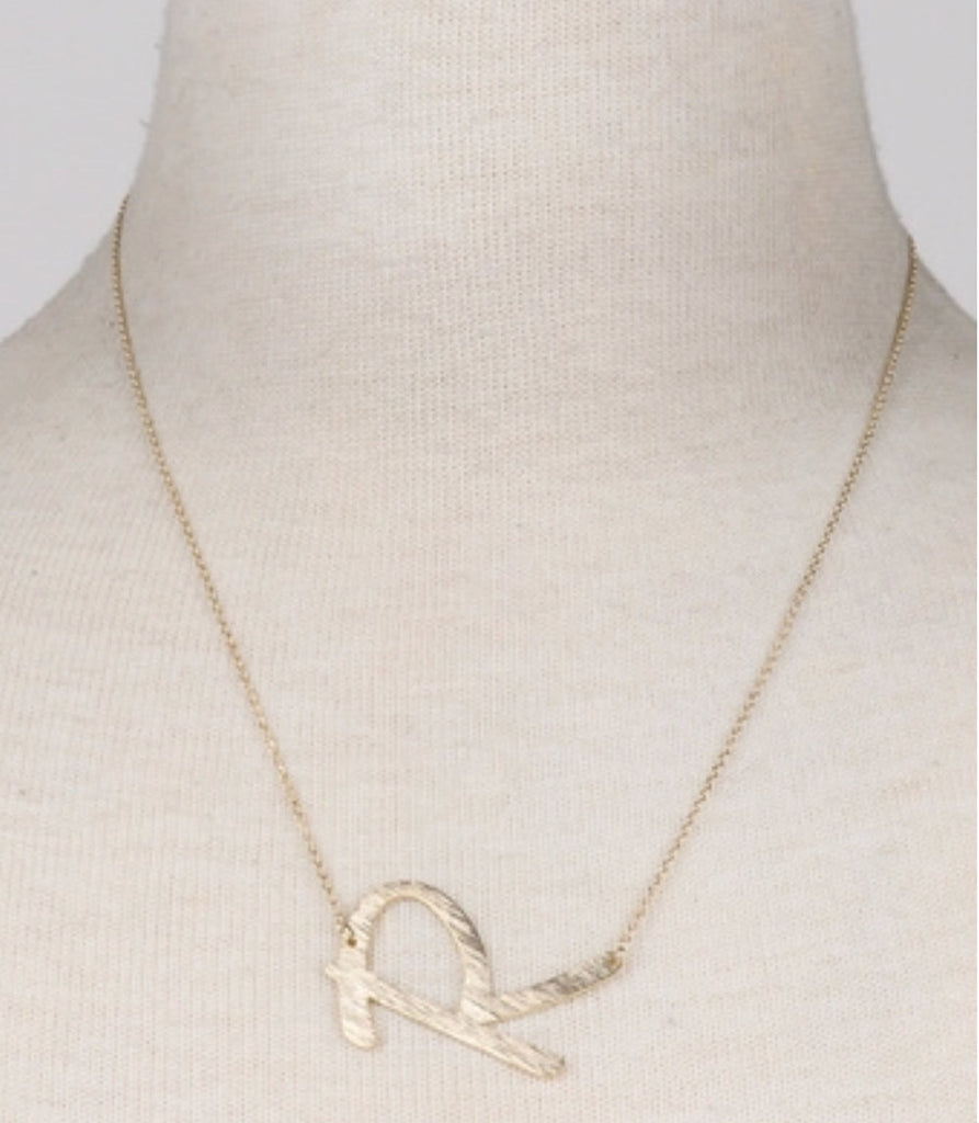"""R"" Love Gold Initial Necklace"