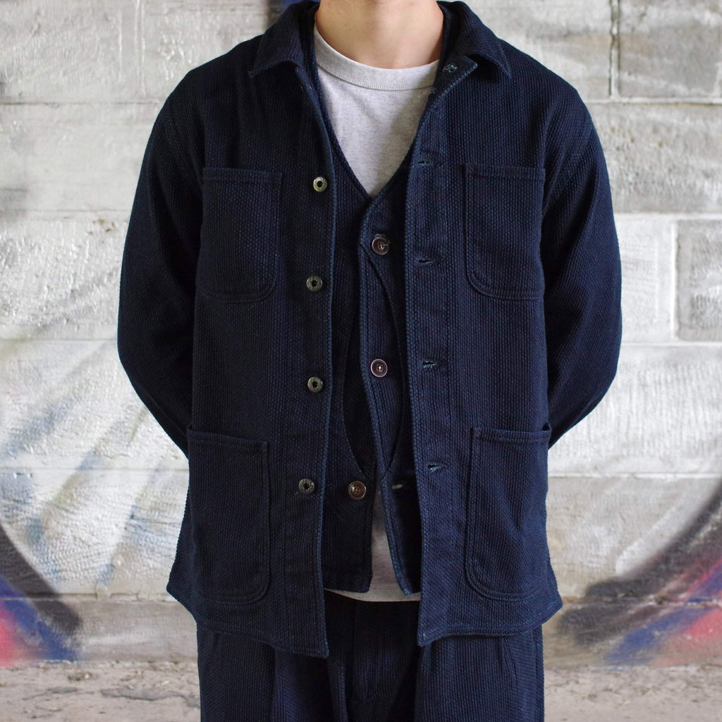 Veste Coverall Sashiko- Japan Blue - Monsieur Cam