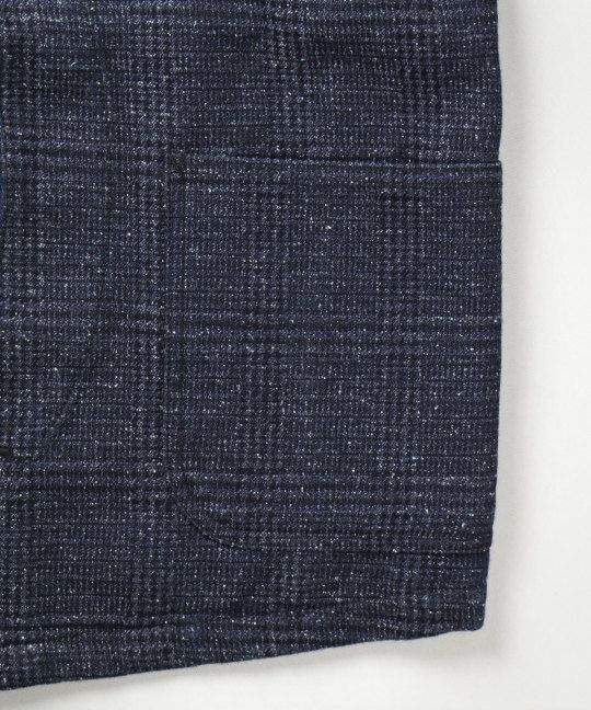 Gilet denim tweed indigo - Japan Blue - Monsieur Cam