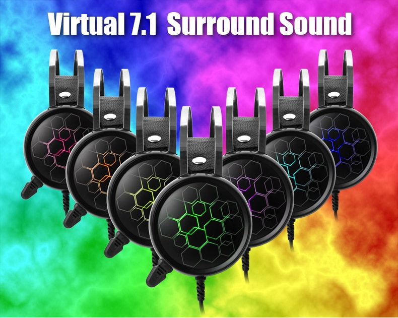 7.1 Gaming Headset with surround sound RGB light