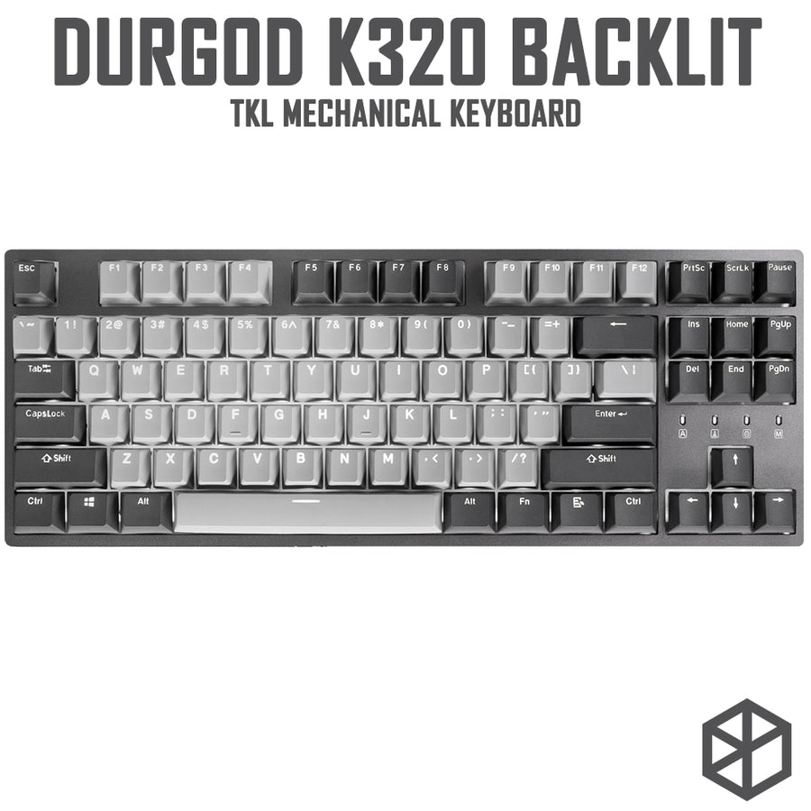 durgod 87 corona k320 backlit mechanical keyboard