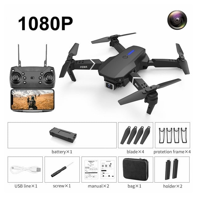 FEMA E525 E525S GPS Drone with 4K / 1080P 5G Wifi FPV HD Wide Angle Camera Foldable Mini Drone