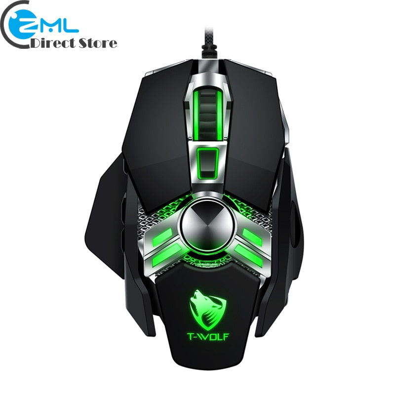 V10 Wired Gaming Mouse 7 button LED back light