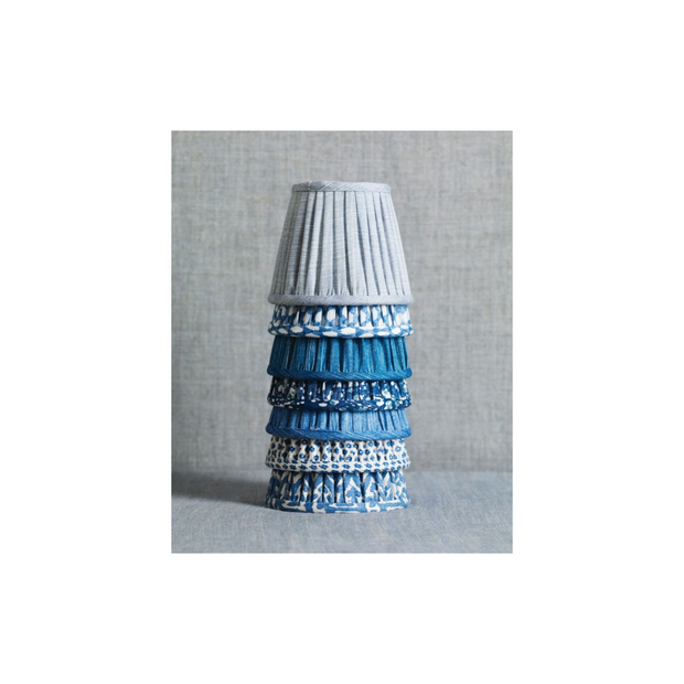 Stack of Patterned Lampshades