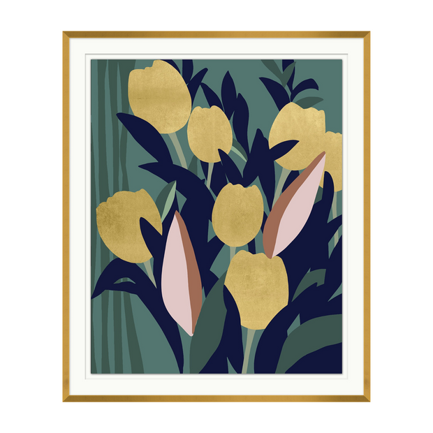 Golden Blooms I Artwork
