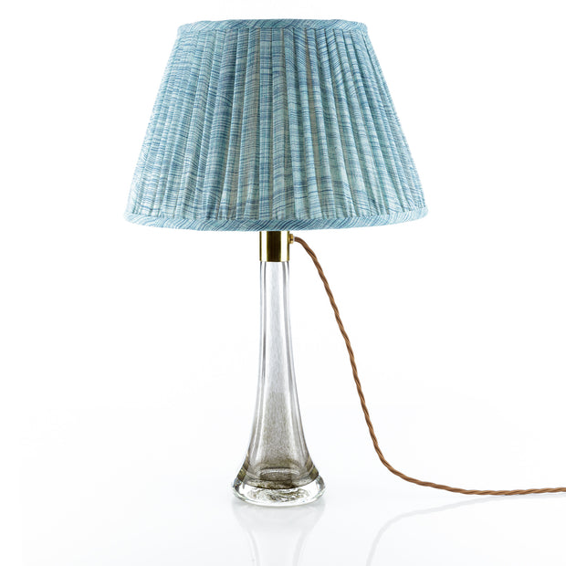 Lampshade in Azure Blue Wave