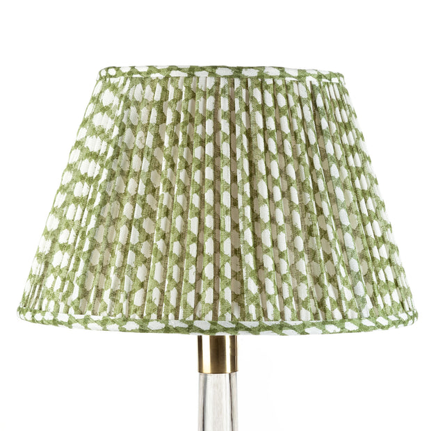 Lampshade in Green Wicker