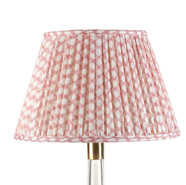 Lampshade in Pink Wicker