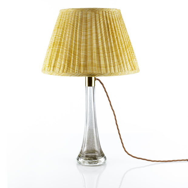 Lampshade in Yellow Wave Light Linen