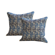 Kathryn M. Ireland Diamond Batik Pillows, Pair