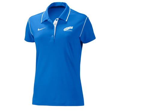 Nike Womens Polo with Basketball  LOGO EMBROIDERED