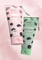 Green & Pink Clay Mask Bundle 75g x 2