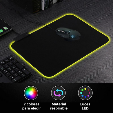 Mouse Pad Led Multicolor Gamer USB