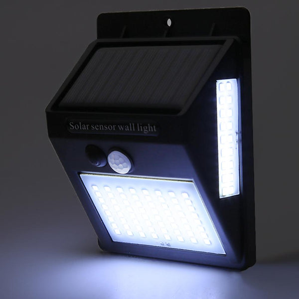 Lámpara Solar de pared LED impermeable con detección de movimiento