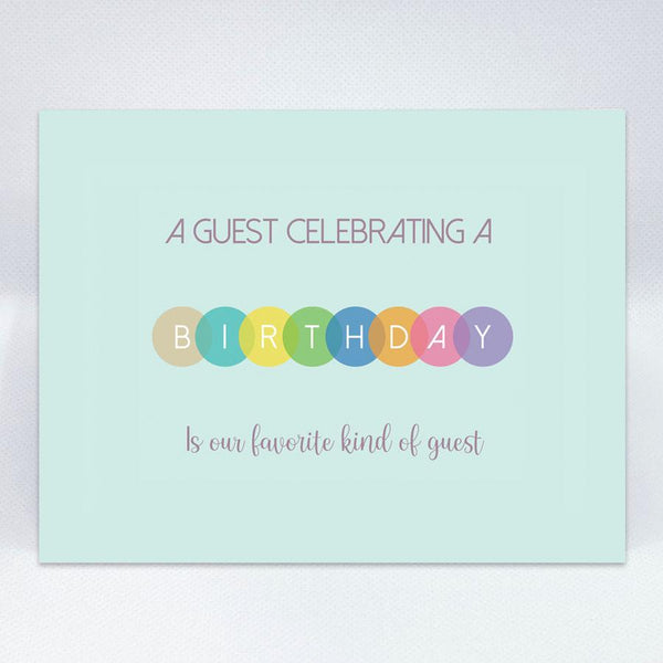 Guest Celebration Card - Simple Hospitality