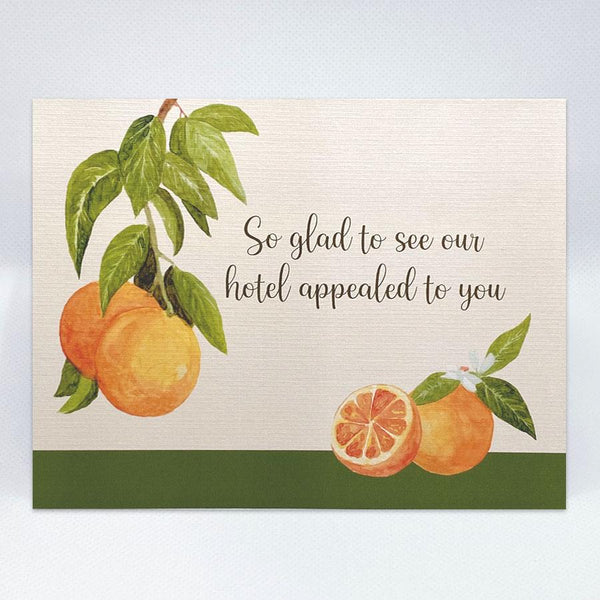 The Citrus Card - Simple Hospitality