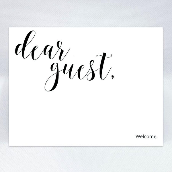 Dear guest card 2 - Simple Hospitality