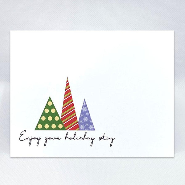 3 Trees Holiday Card - Simple Hospitality