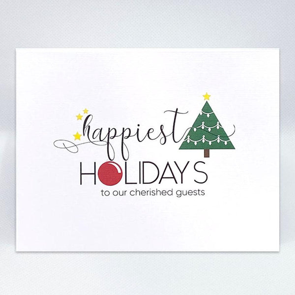 Happiest Holidays Card - Simple Hospitality
