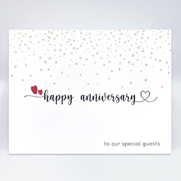 Anniversary Guests Card - Simple Hospitality