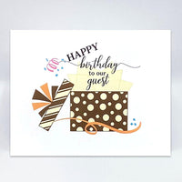 Birthday Gift Card - Simple Hospitality