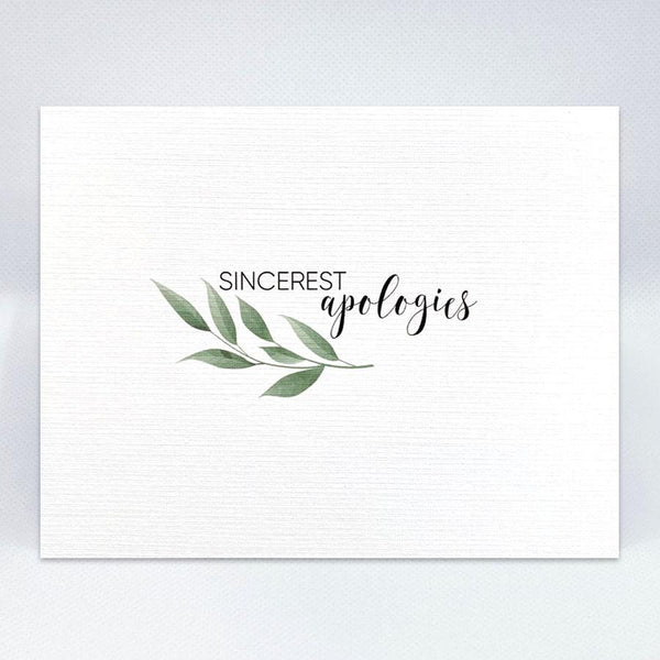 Sincerest Apologies Card - Simple Hospitality