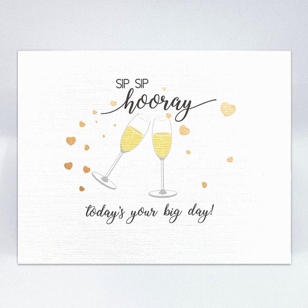 """Sip Sip Hooray"" Card (Today) - Simple Hospitality"