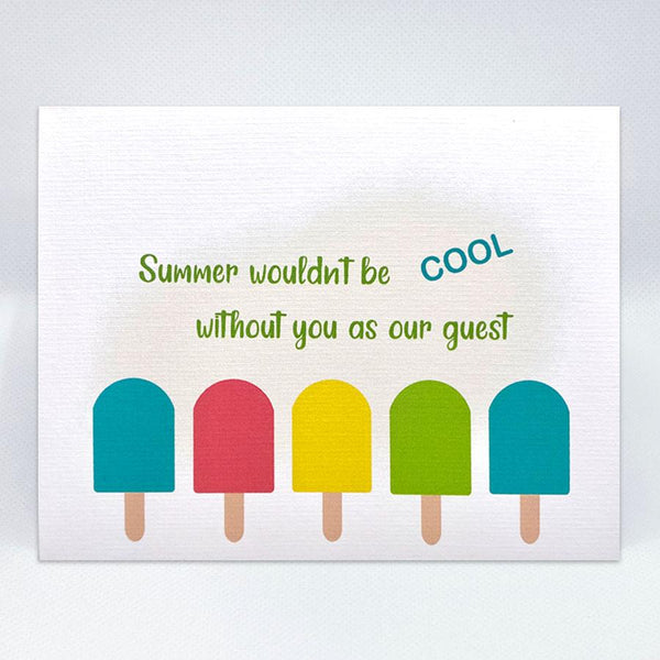 The Popsicle Card - Simple Hospitality