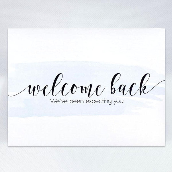 Welcome Back Card - Simple Hospitality