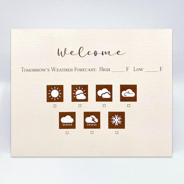The Weather Card - Simple Hospitality