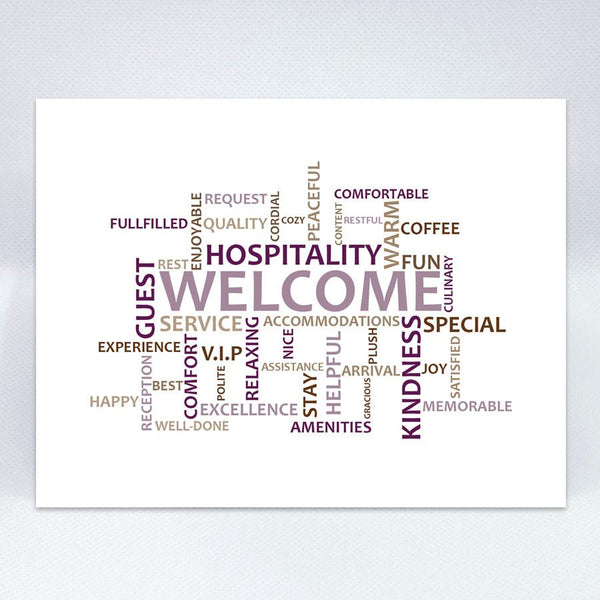 Welcome Word Cloud - Simple Hospitality