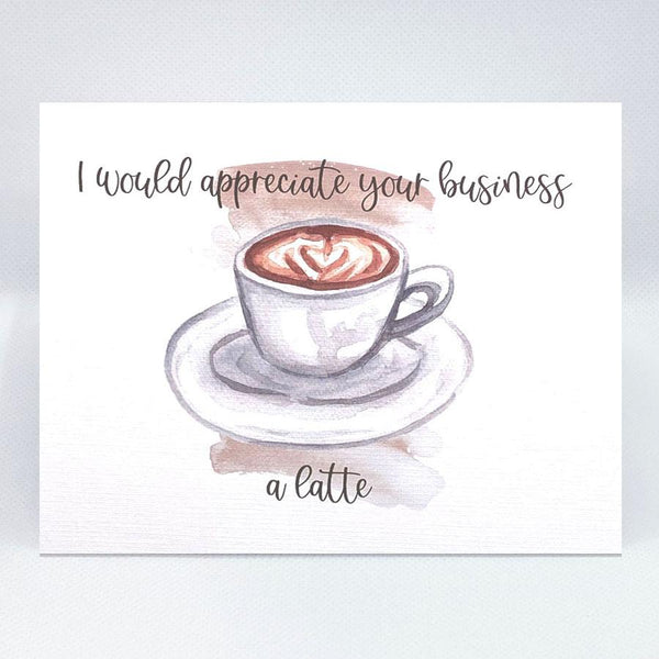 Latte Prospecting Card - Simple Hospitality