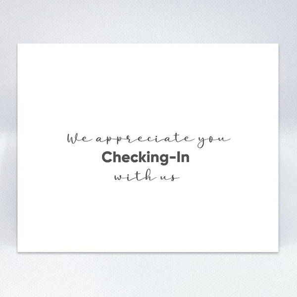 Checking-In Simple Card - Simple Hospitality