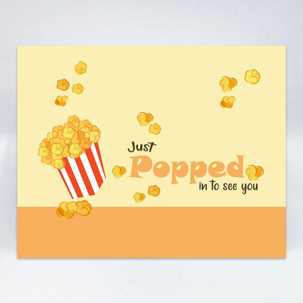 """Just Popped In"" Card - Simple Hospitality"