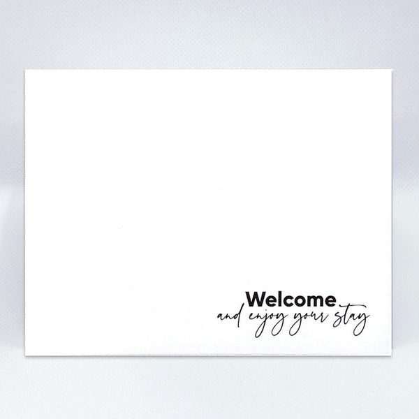 Welcome & Enjoy Your Stay Simple Card - Simple Hospitality