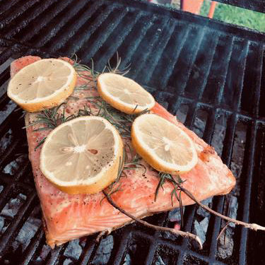 Grill A Salmon Filet to go with that Burgundy!