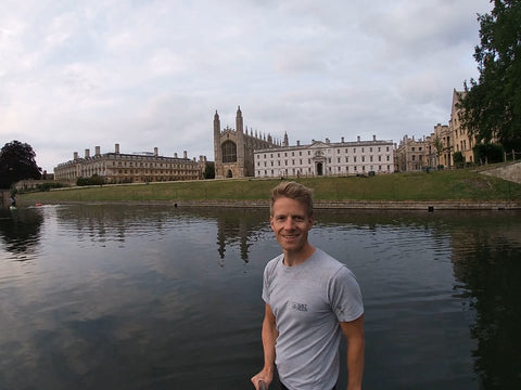 Paddle boarding the River Cam, King's College Cambridge