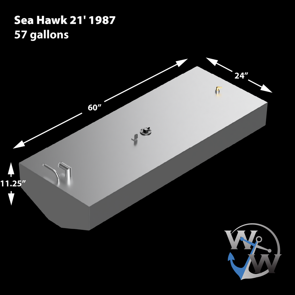 Sea Hawk 21' 1987 - 57 gal. OEM Replacement Belly Fuel Tank