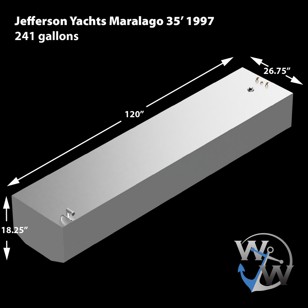 Jefferson Yachts Maralago 35' 1997 - 241 gal. OEM Replacement Fuel Tank