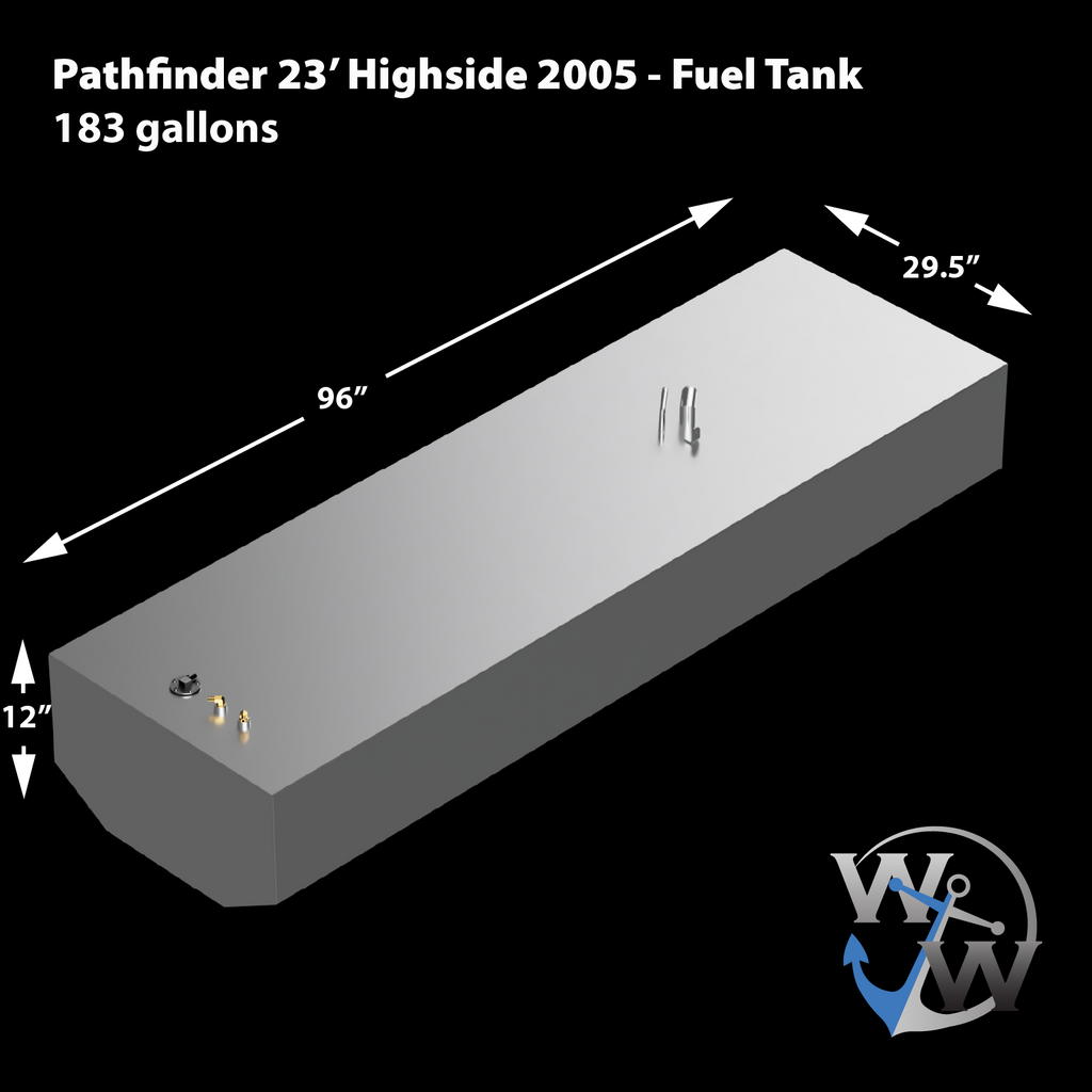 Pathfinder 23' Highside  2005 - 183 gal. OEM replacement belly fuel tank