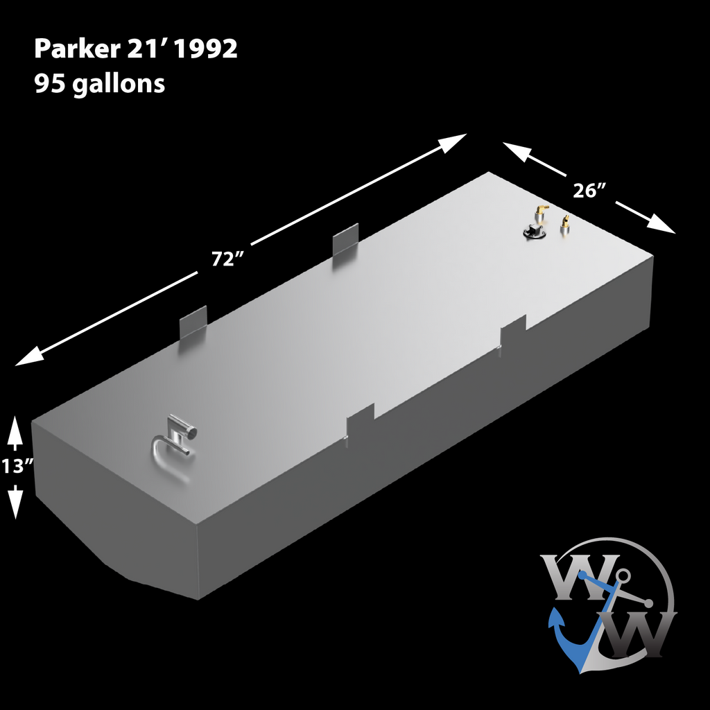 Parker 21' 1992 - 95 gallon Fuel Tank
